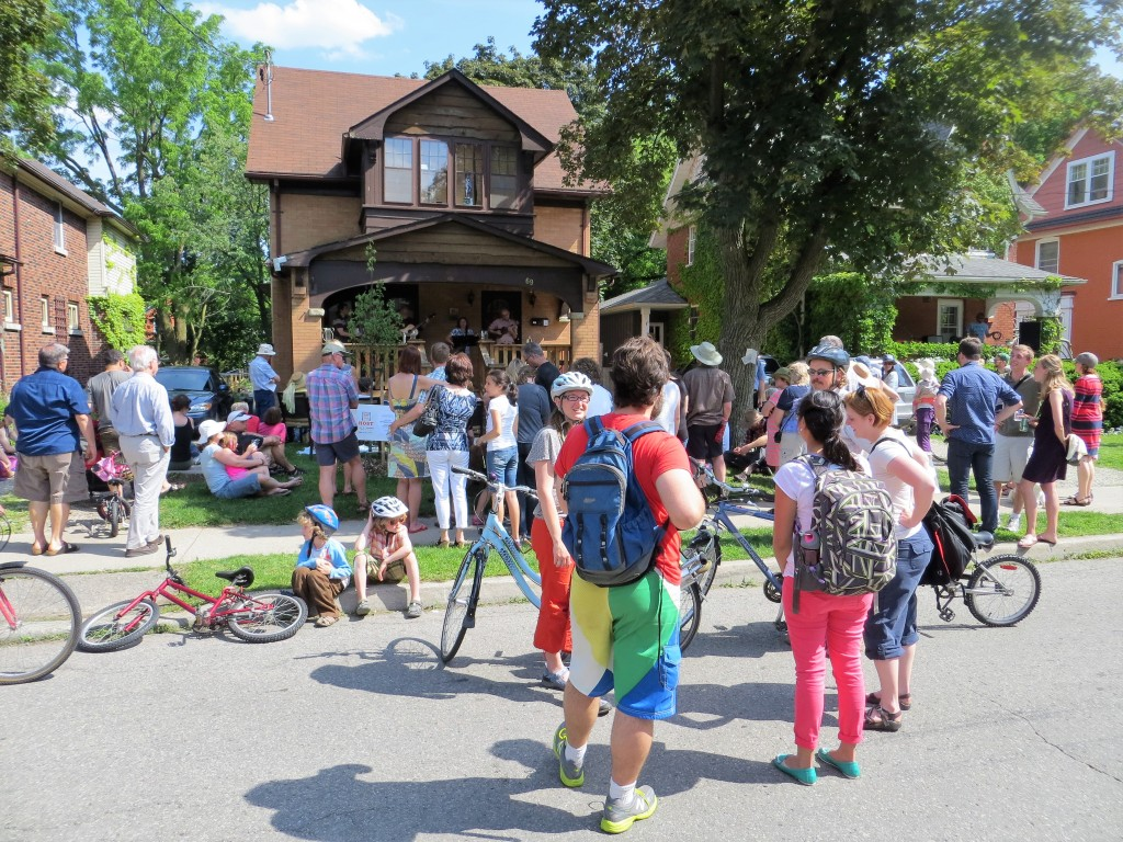 One of many front porch performances in Waterloo, Ontario