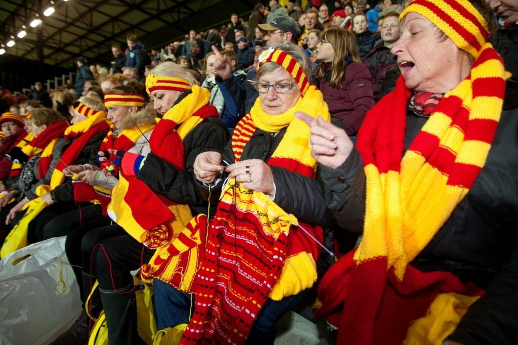 Voorstad knitters at Go Ahead Eagles game
