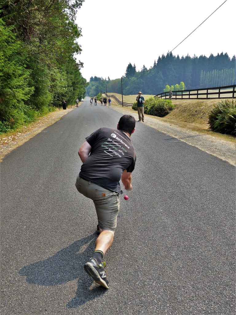 Rural communities like Vashon Island can enjoy road bowling, a bumping activity not possible in more populated areas.